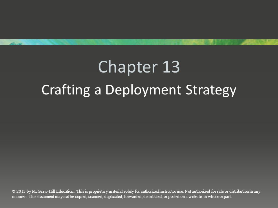 Crafting a Deployment Strategy