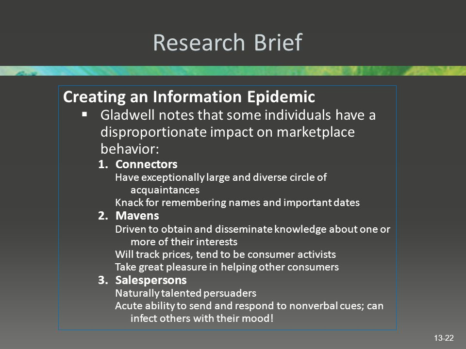 Research Brief Creating an Information Epidemic