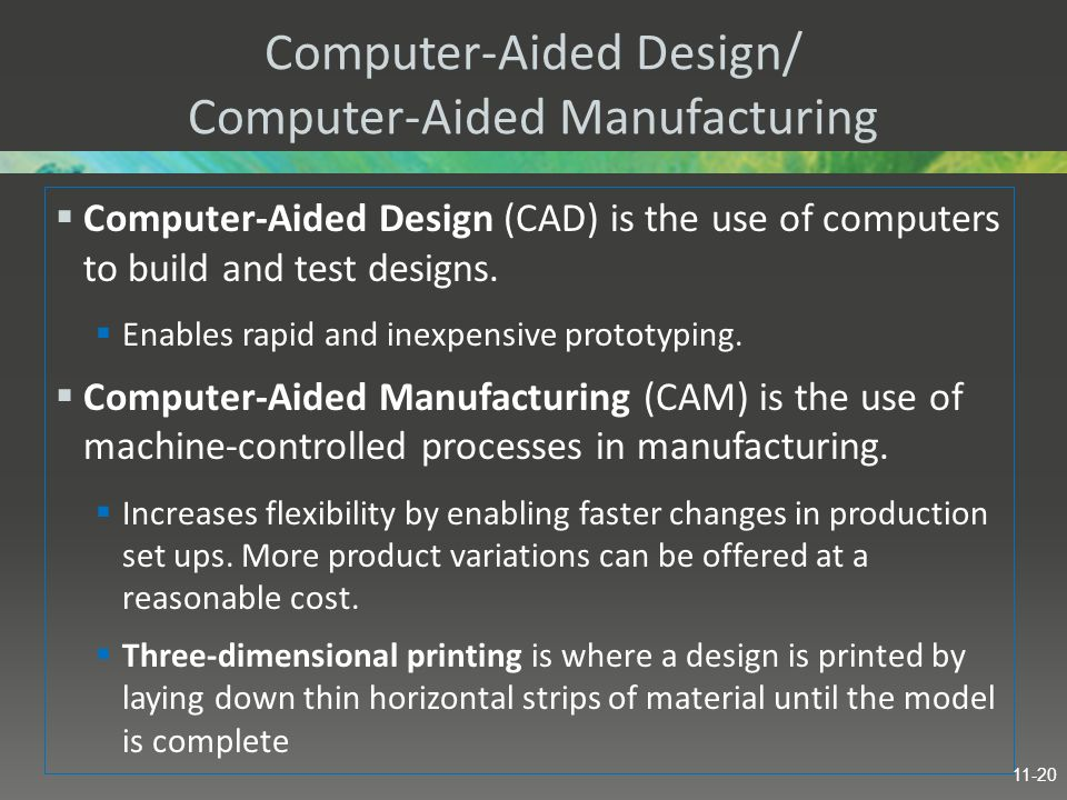 Computer-Aided Design/ Computer-Aided Manufacturing