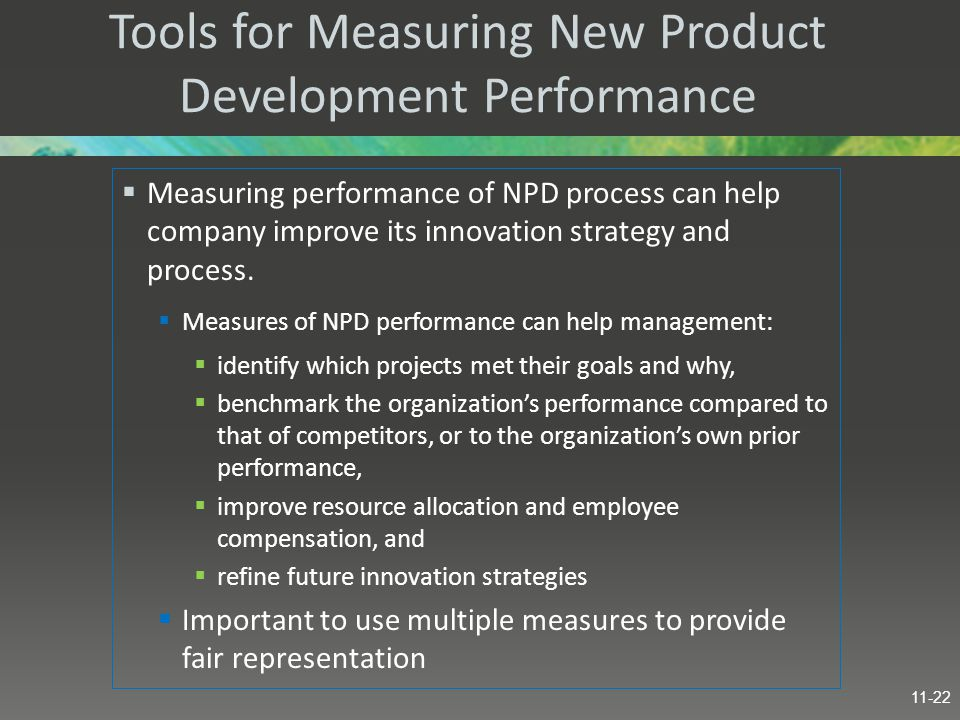 Tools for Measuring New Product Development Performance