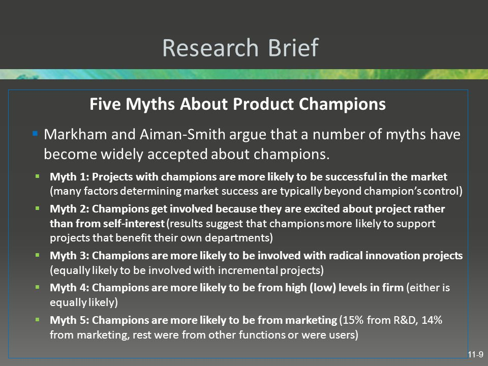 Five Myths About Product Champions