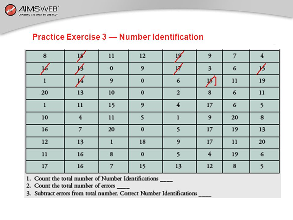 Practice Exercise 3 — Number Identification