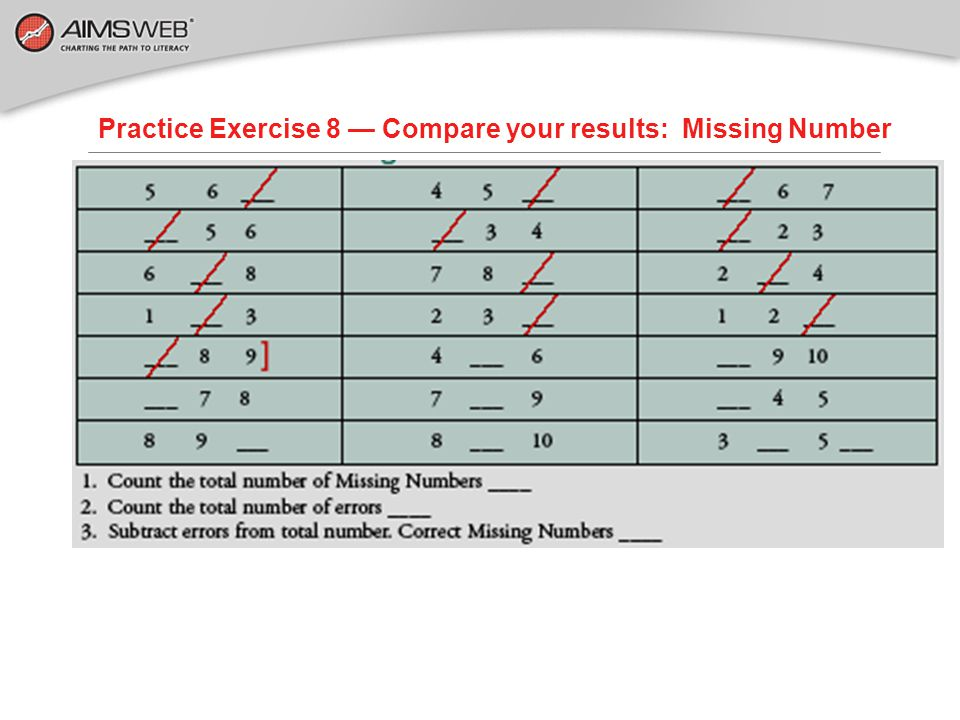 Practice Exercise 8 — Compare your results: Missing Number