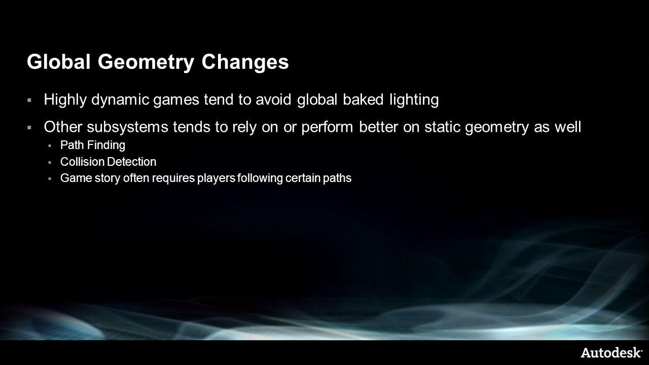 Global Geometry Changes