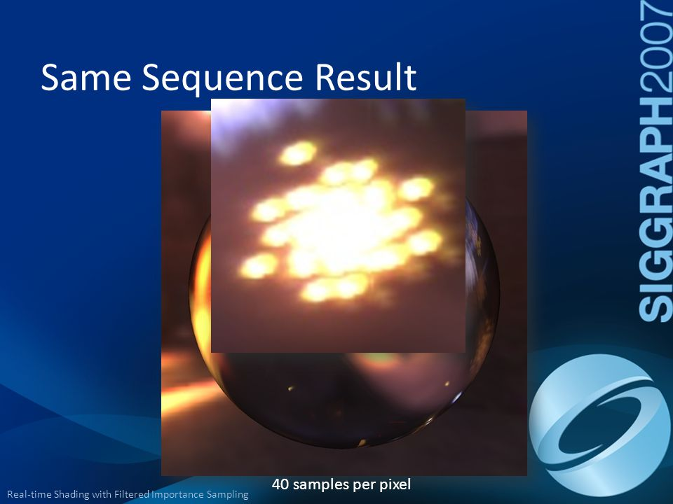 Same Sequence Result 40 samples per pixel