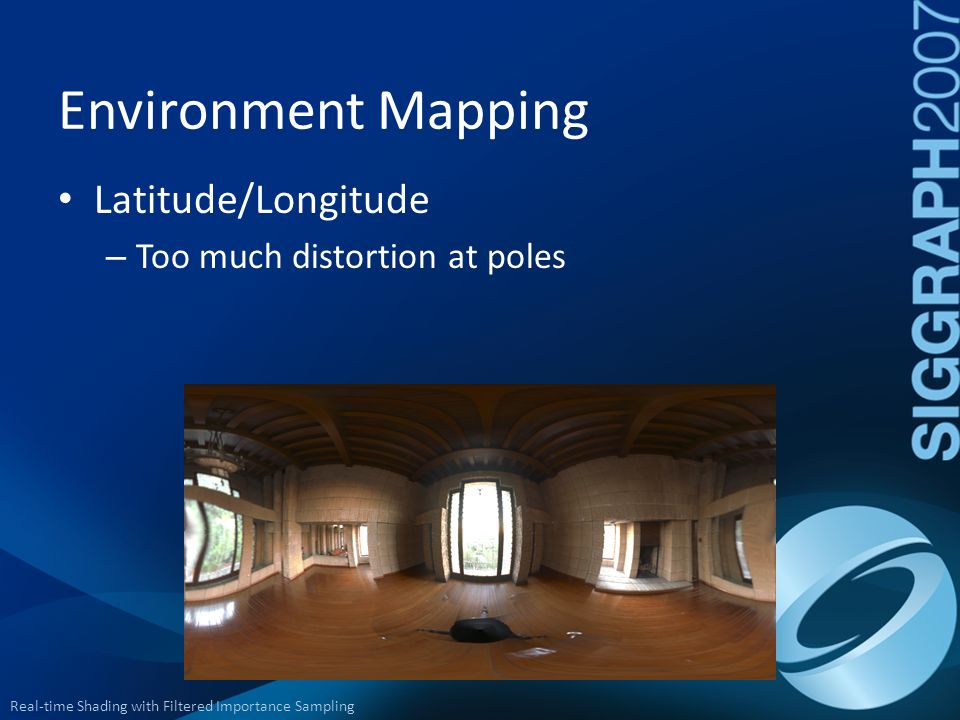 Environment Mapping Latitude/Longitude Too much distortion at poles