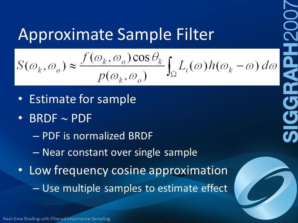 Approximate Sample Filter