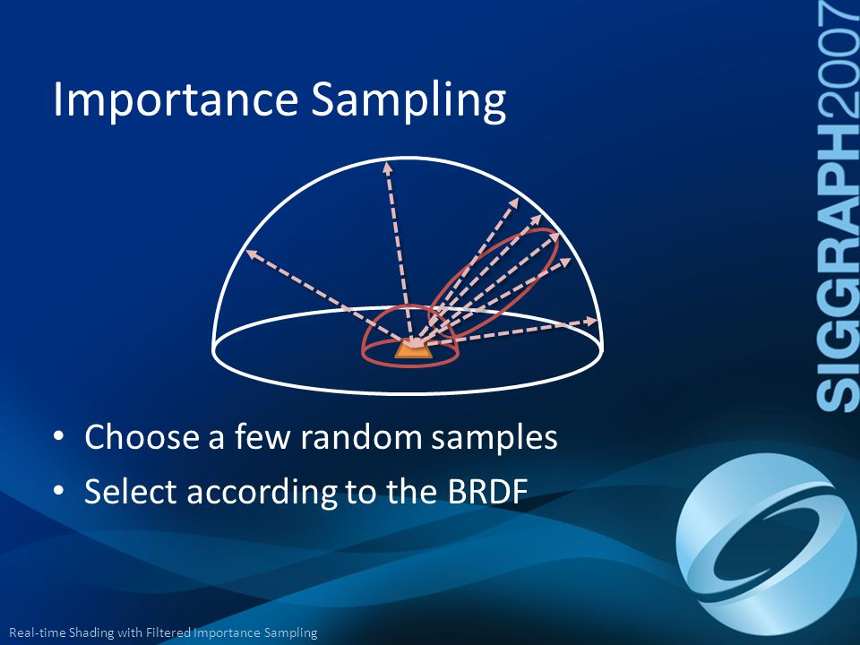 Importance Sampling Choose a few random samples