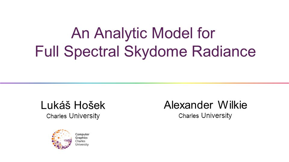 An Analytic Model for Full Spectral Skydome Radiance