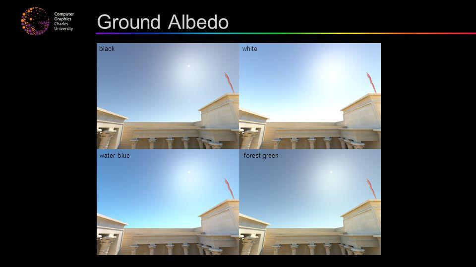 Ground Albedo black white water blue forest green