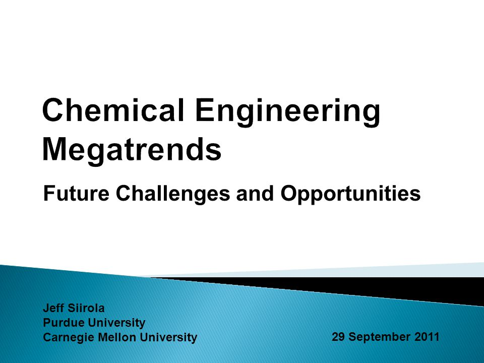 Chemical Engineering Megatrends