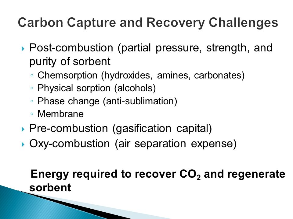 Carbon Capture and Recovery Challenges