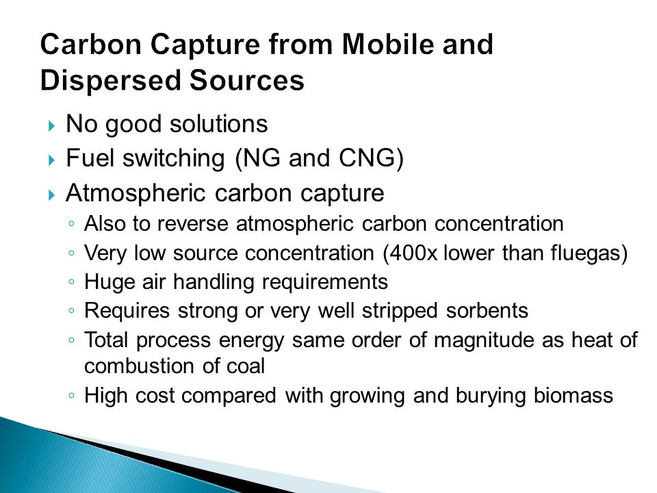 Carbon Capture from Mobile and Dispersed Sources
