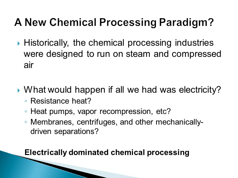 A New Chemical Processing Paradigm