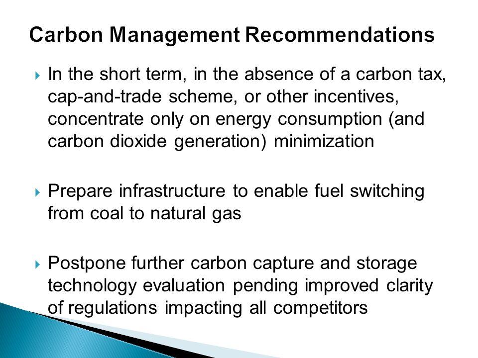 Carbon Management Recommendations