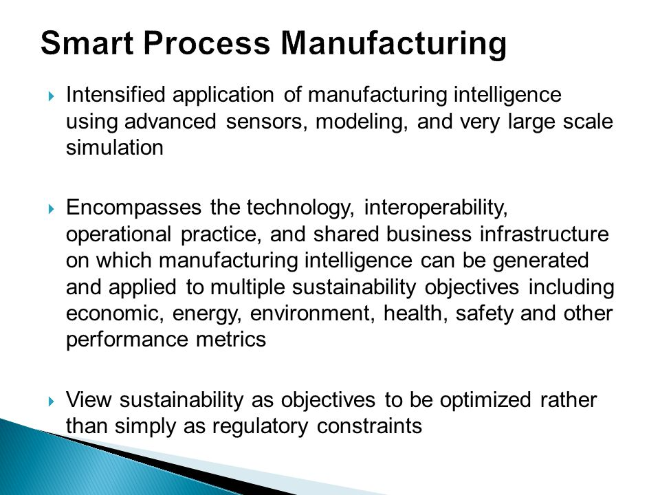 Smart Process Manufacturing