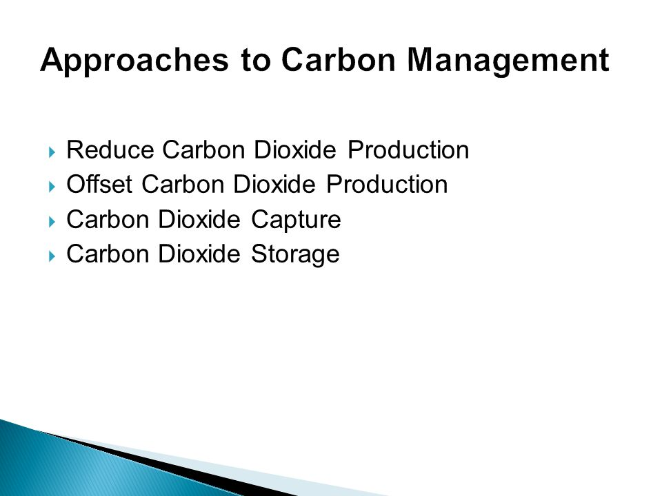 Approaches to Carbon Management