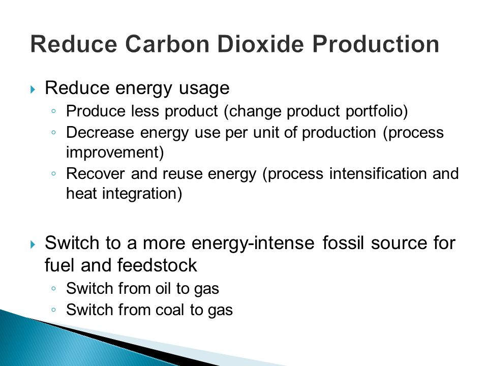 Reduce Carbon Dioxide Production