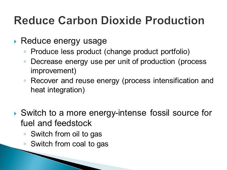 Reduce Carbon Dioxide Production