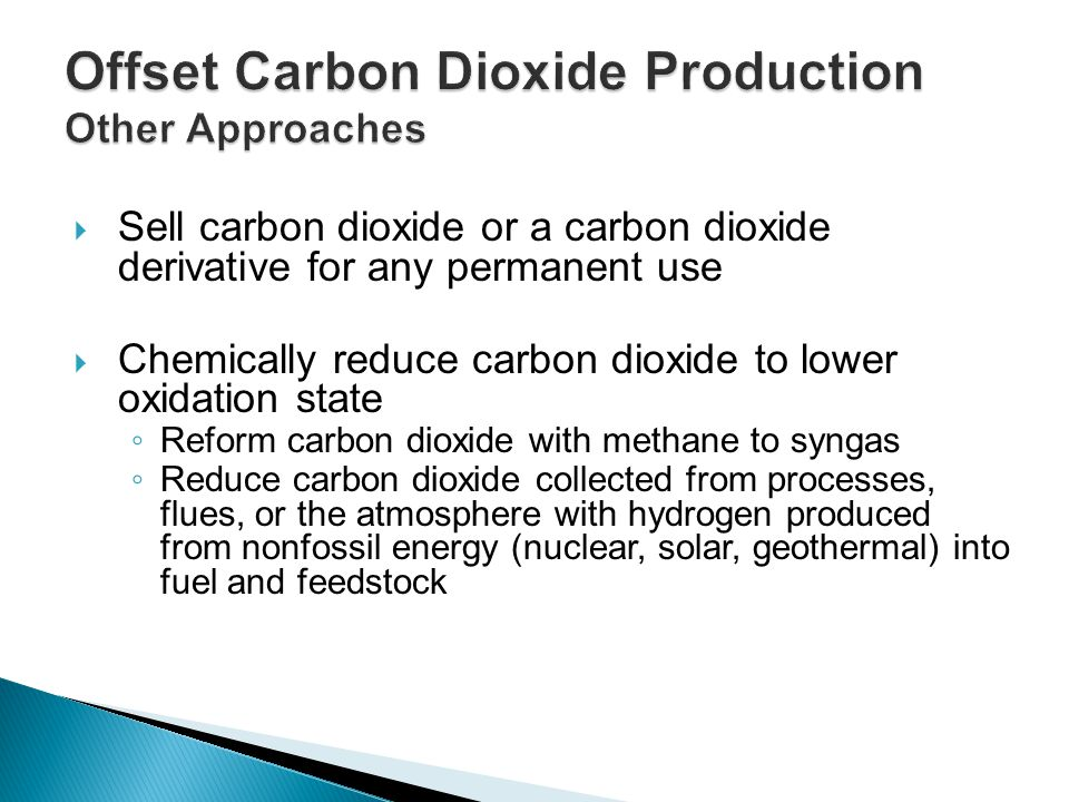 Offset Carbon Dioxide Production Other Approaches