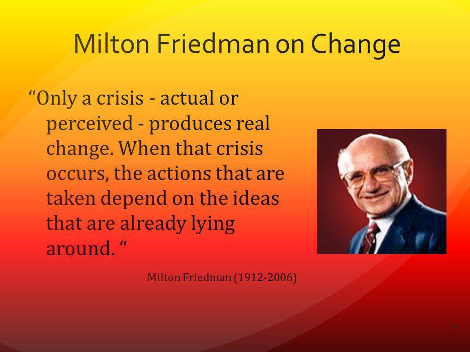 Milton Friedman on Change