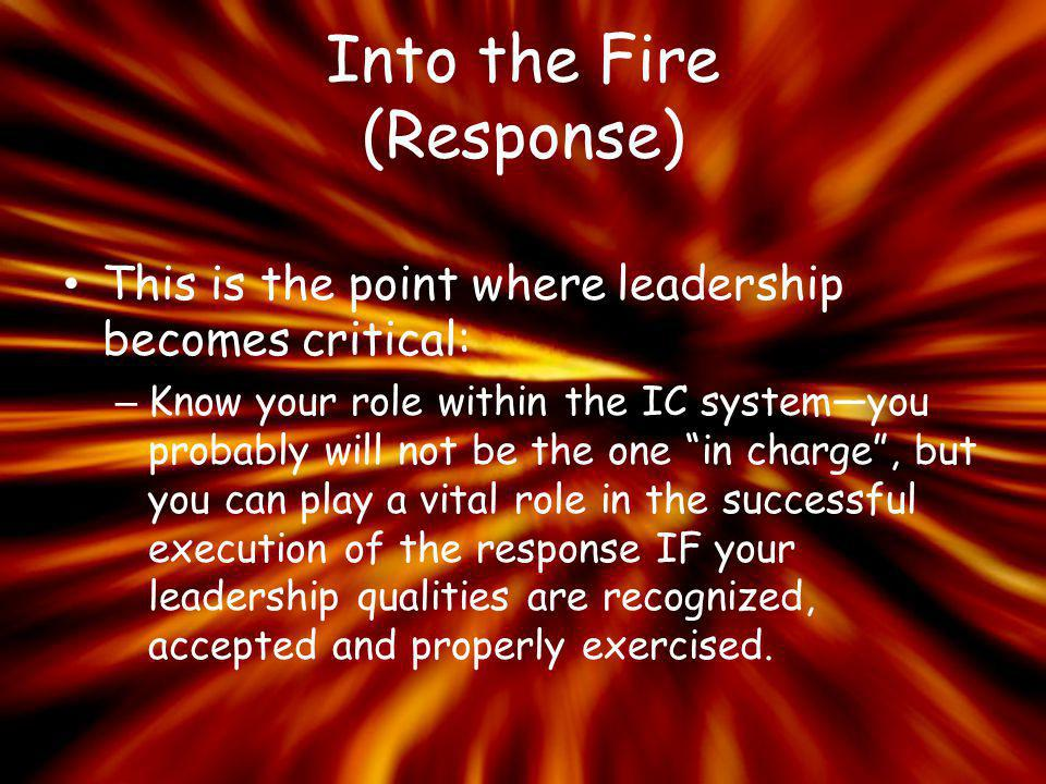Into the Fire (Response)