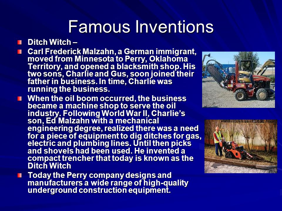 Famous Inventions Ditch Witch –