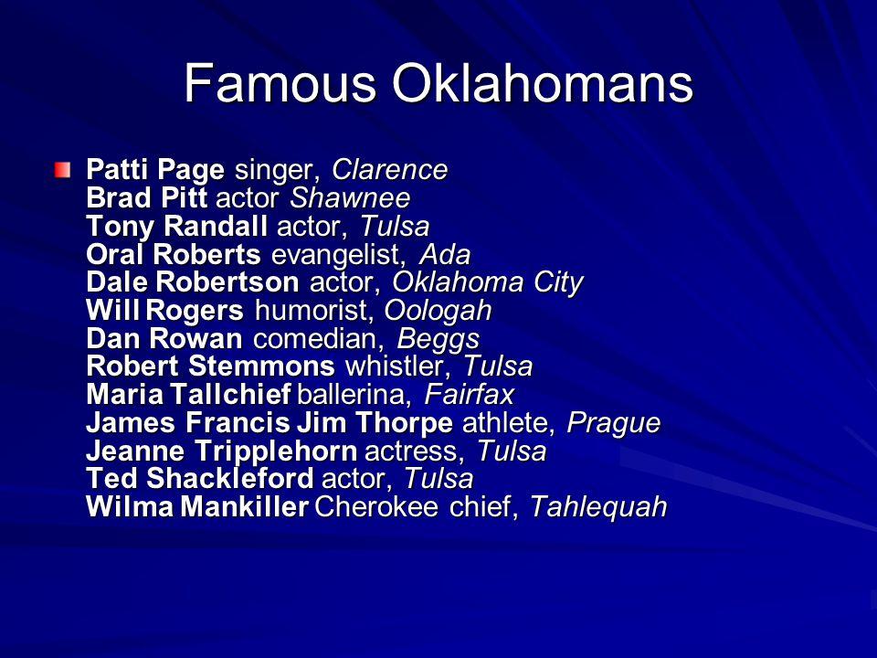 Famous Oklahomans