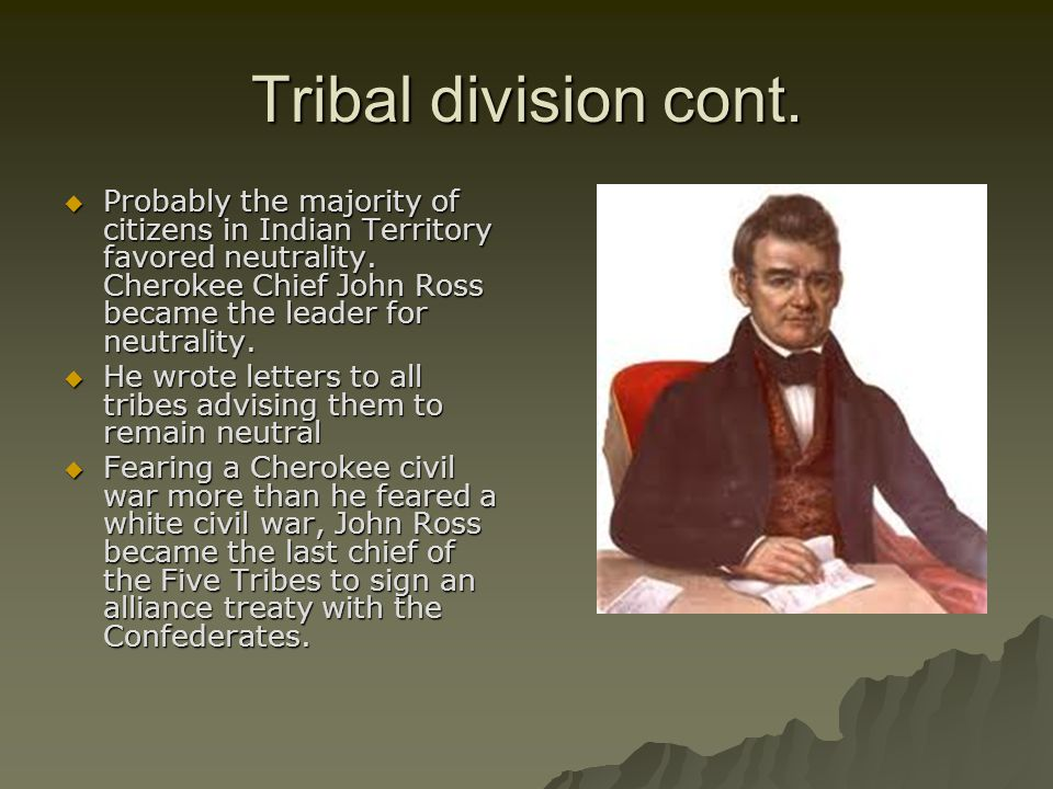 Tribal division cont.
