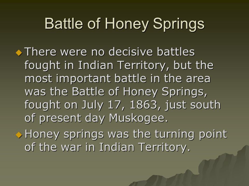 Battle of Honey Springs