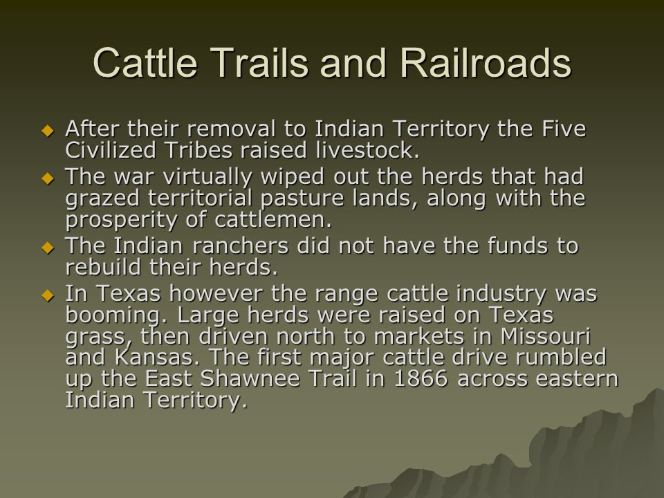 Cattle Trails and Railroads