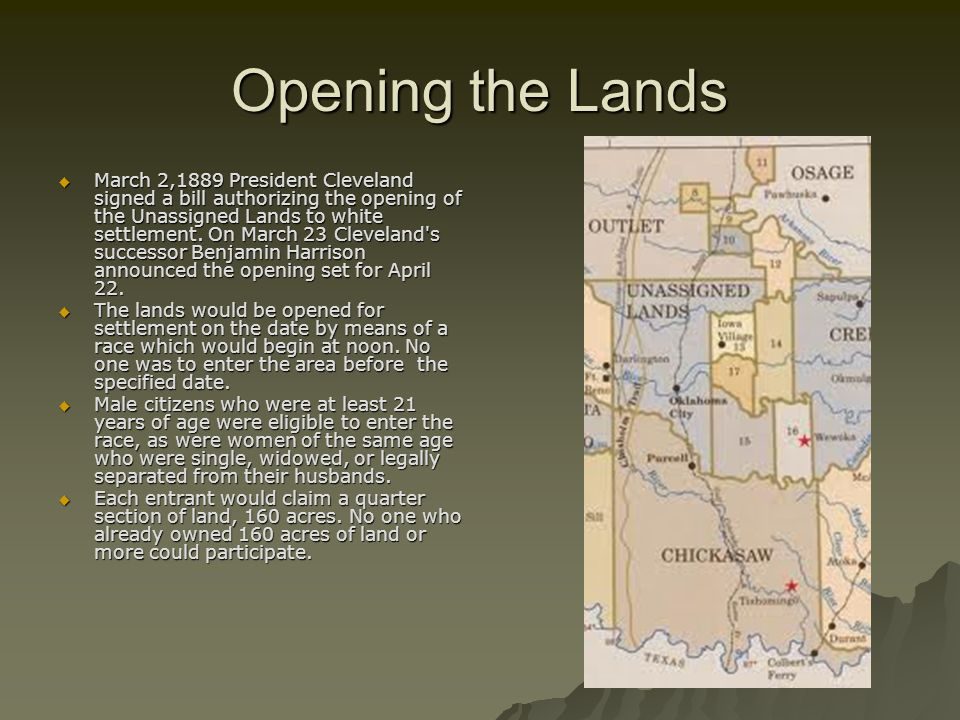 Opening the Lands