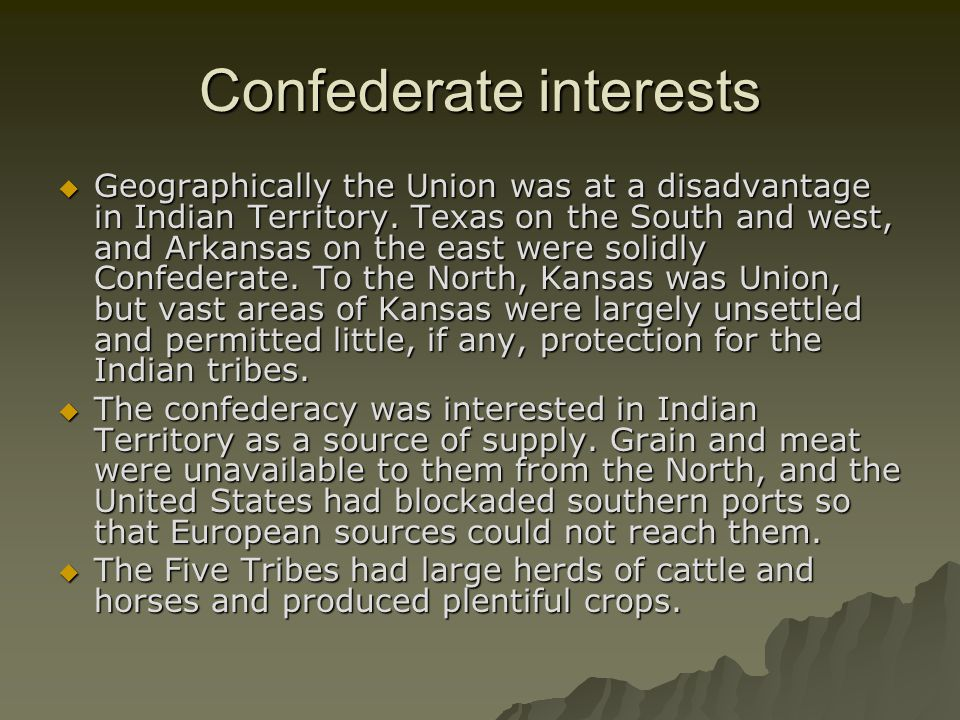 Confederate interests