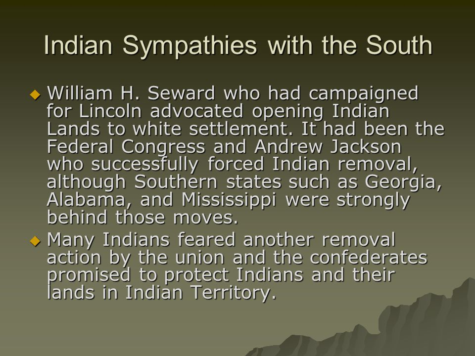 Indian Sympathies with the South