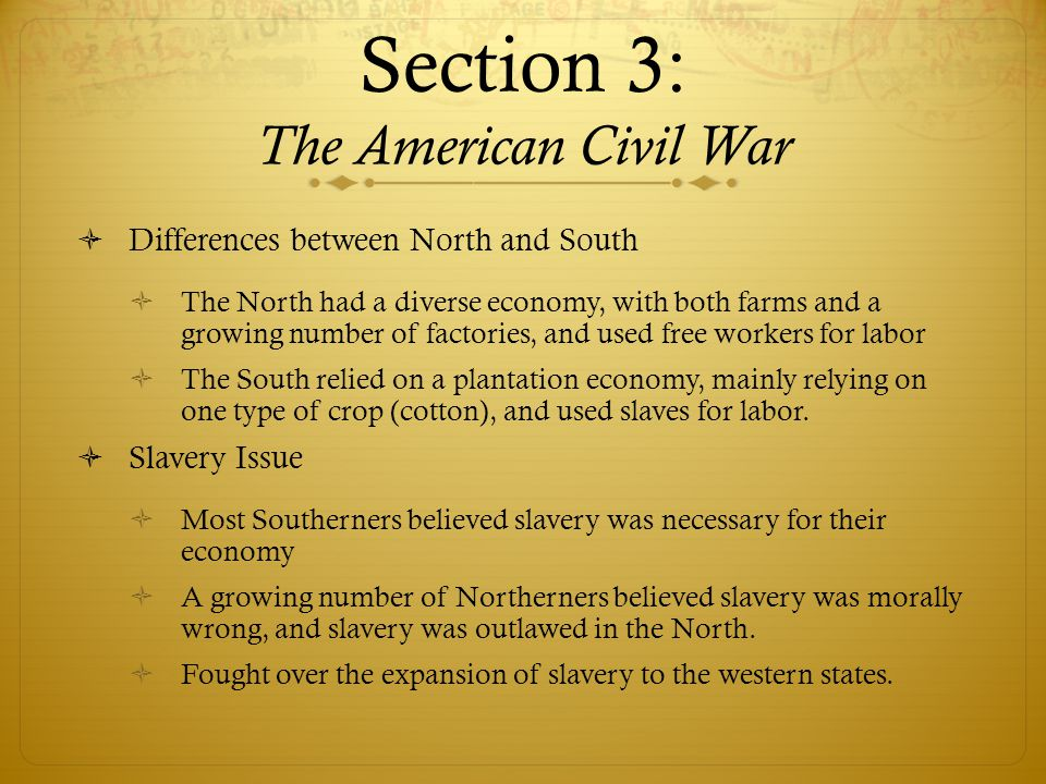 Section 3: The American Civil War