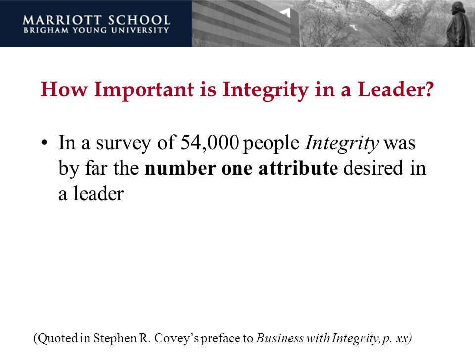 How Important is Integrity in a Leader