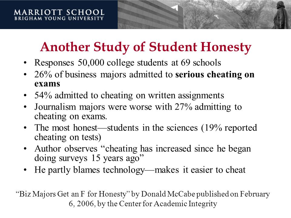 Another Study of Student Honesty
