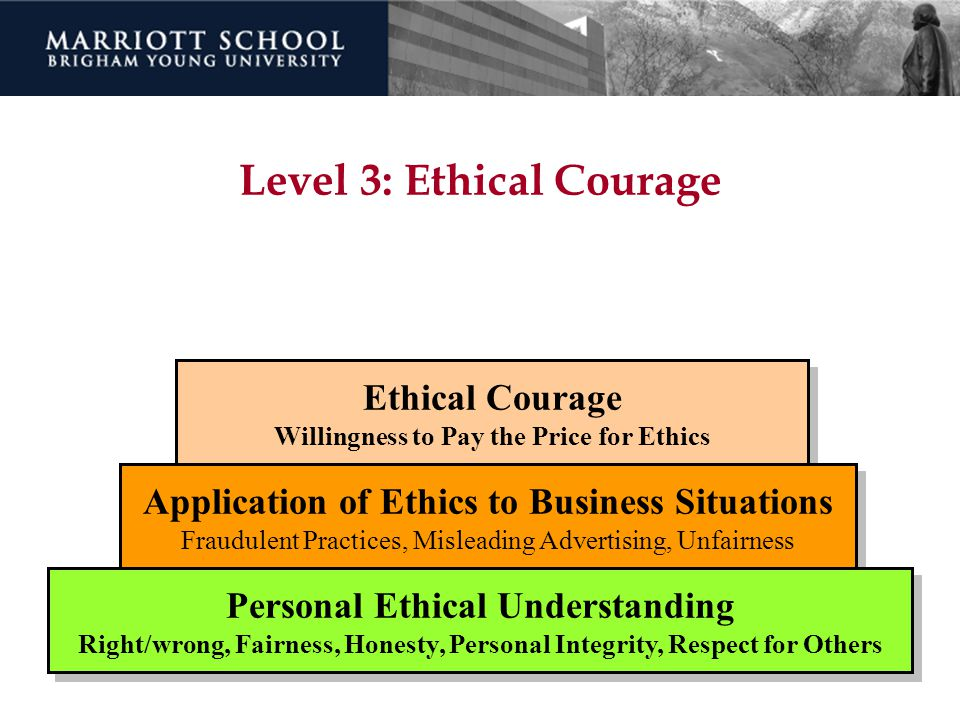 Level 3: Ethical Courage