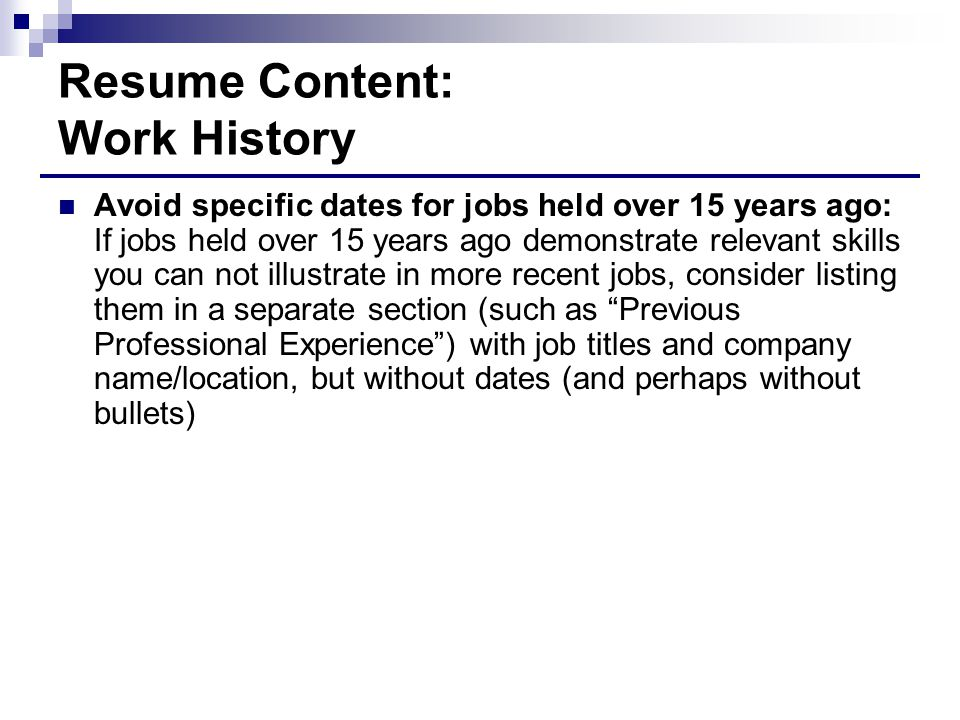 13 resume - Resume Without Dates