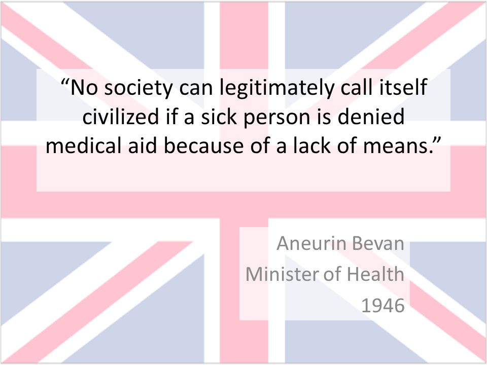 Aneurin Bevan Minister of Health 1946