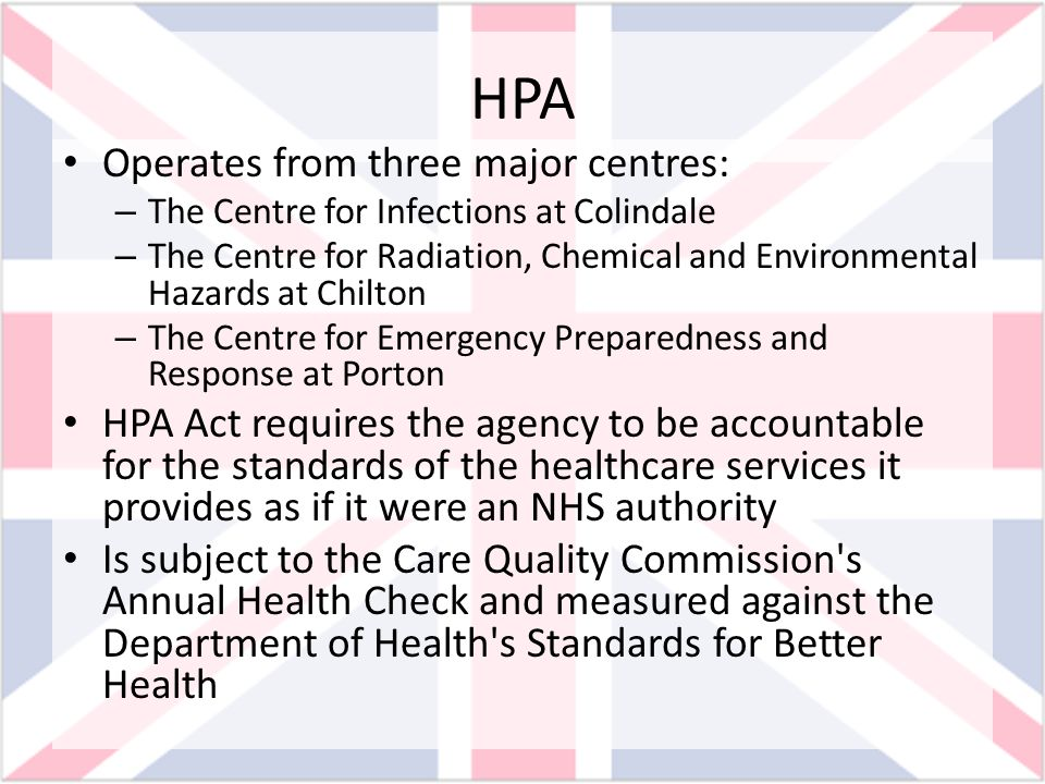 HPA Operates from three major centres: