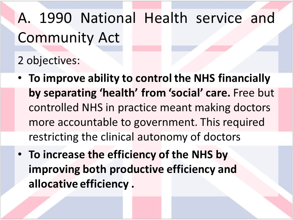 A National Health service and Community Act