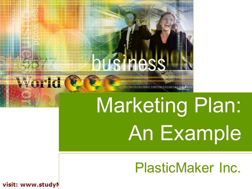 Marketing Plan: An Example