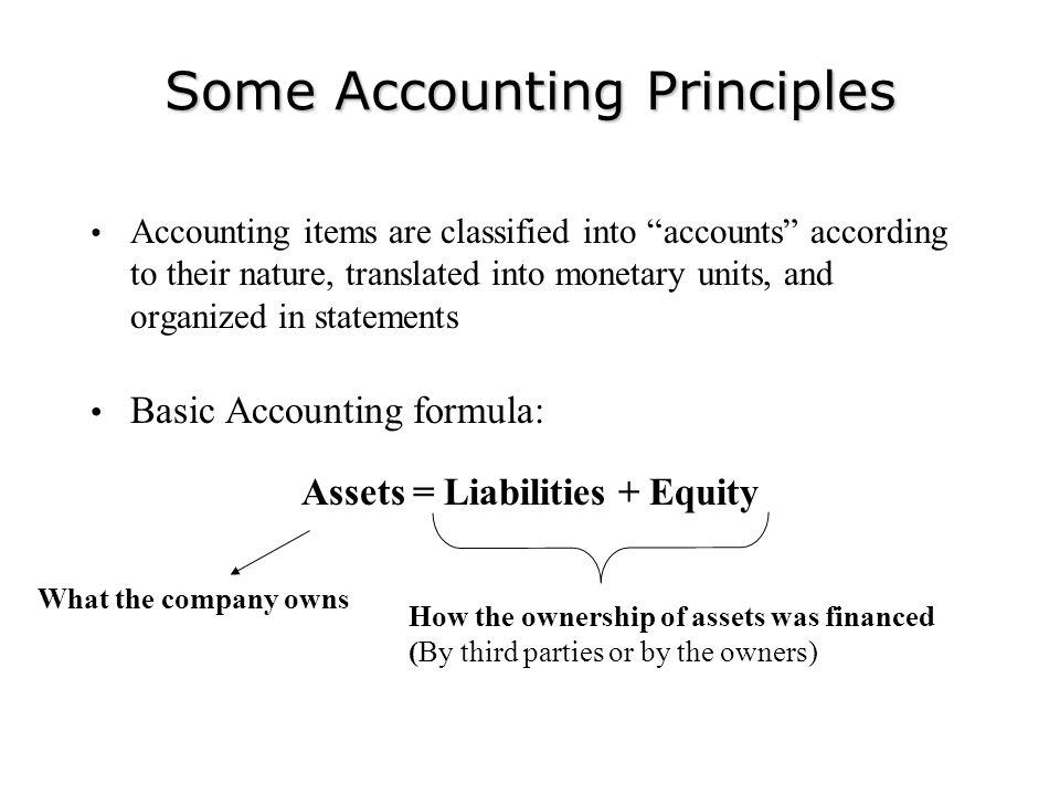 Some Accounting Principles