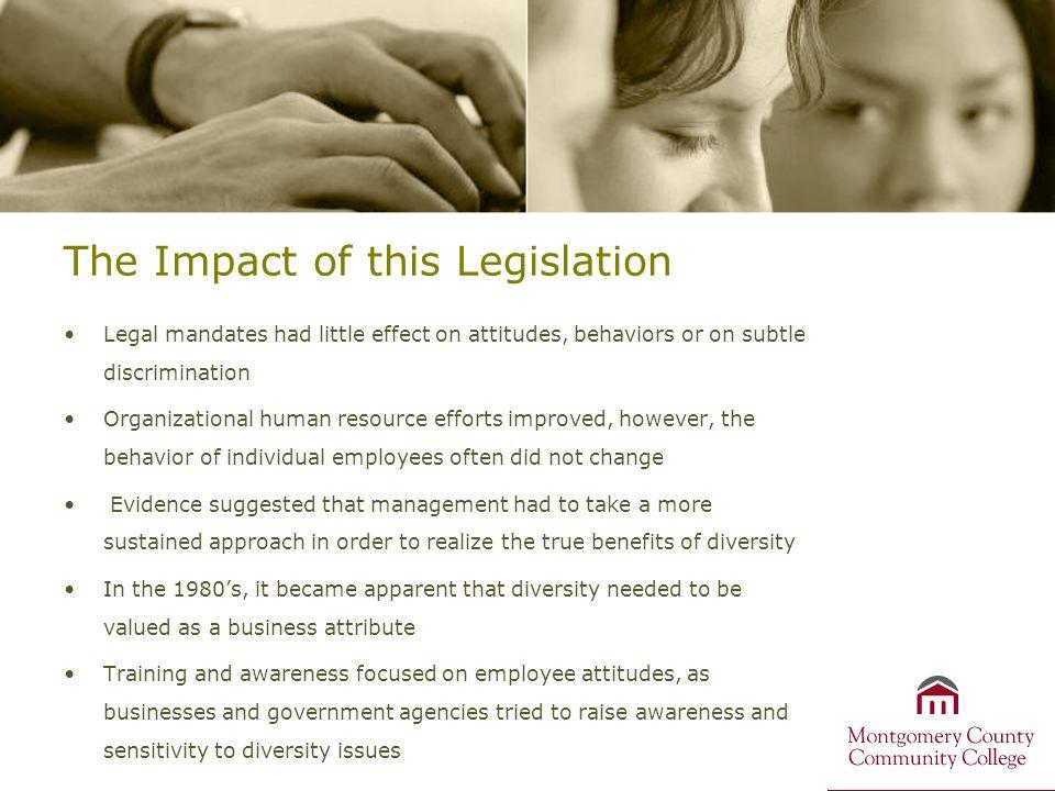 The Impact of this Legislation