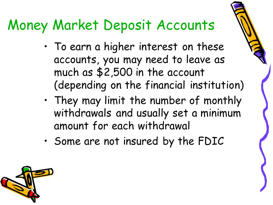 Money Market Deposit Accounts