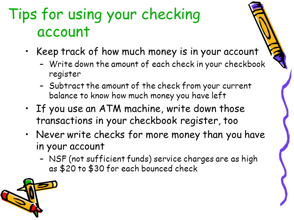 Tips for using your checking account