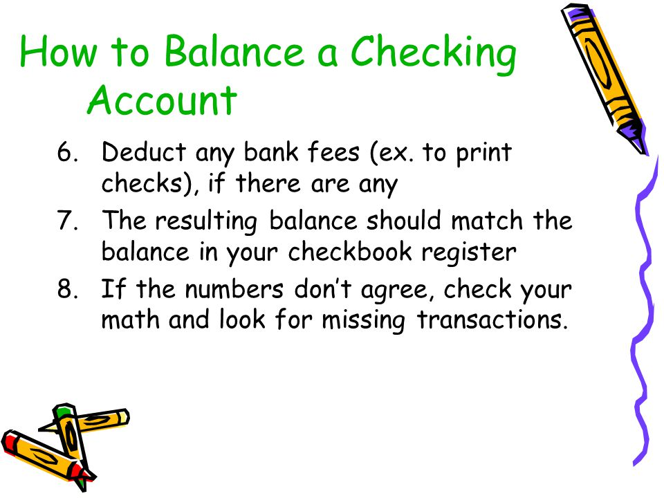 How to Balance a Checking Account