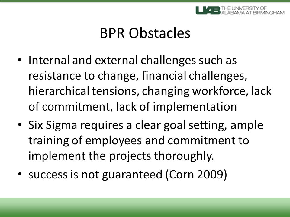 BPR Obstacles