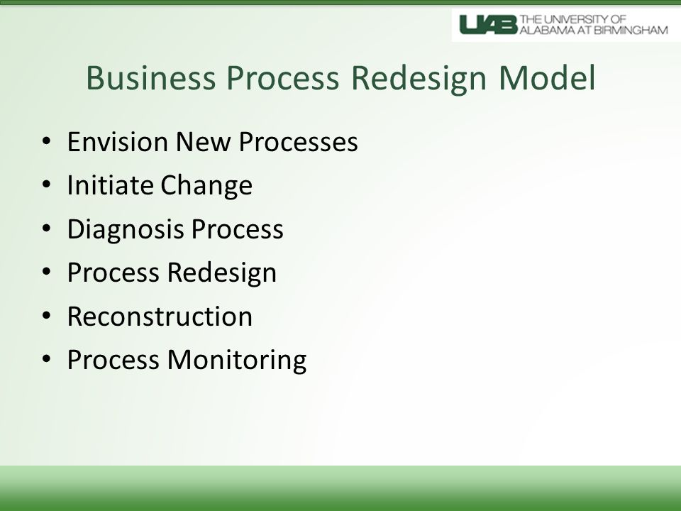 Business Process Redesign Model